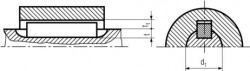 DIN6885 Parallel key - product drawing - d1=length,